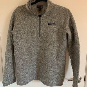 Patagonia Better Sweater 1/4 Fleece Zip Grey L